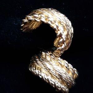 VTG signature Dior gold half hoop earrings